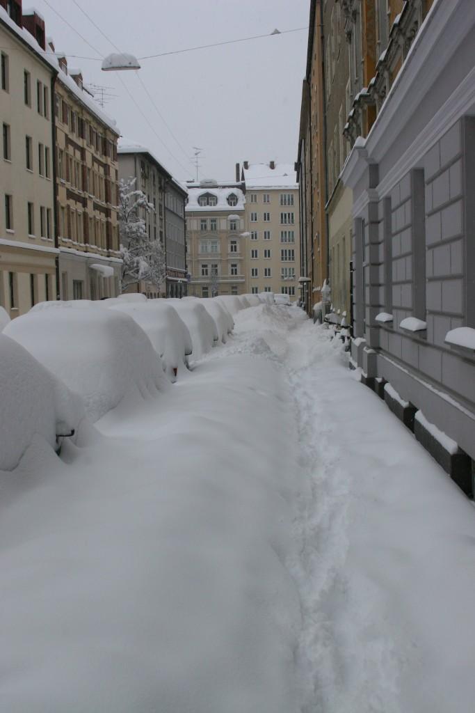 Baumstrasse under snow