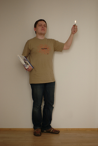 Openismus T-Shirts 2009, modelled by Michael Hasselmann