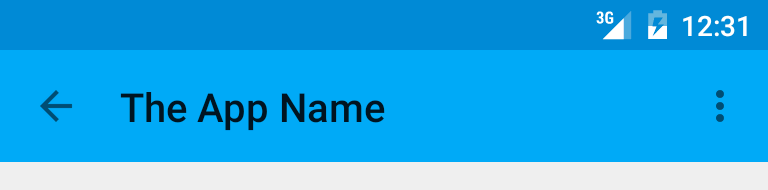 Android Changing The Toolbar S Text Color And Overflow