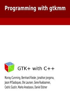 gtkmm book on Kindle | Murray's Blog